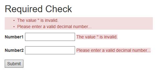 Customize Required Attribute Error Message