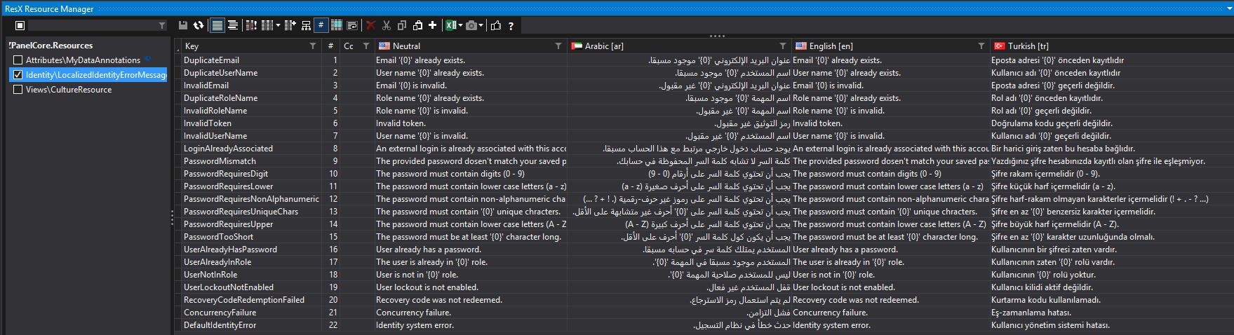 localizing identity error messages